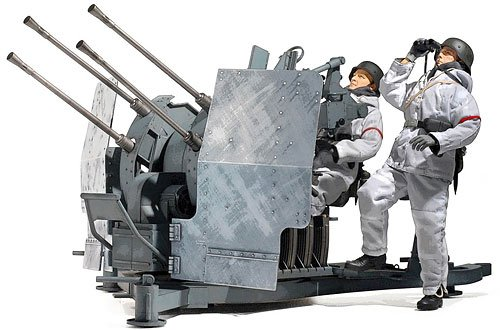 サイバーホビー プラモデル 1/6 WW.II ドイツ軍 四連装対空機関砲38型 中期型