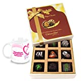 Divine Assortment Of Dark Chocolate Treats With Love Mug - Chocholik Luxury Chocolates