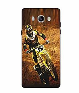 Case Cover Bike Printed Multicolor Soft Back Cover For SAMSUNG Galaxy On8