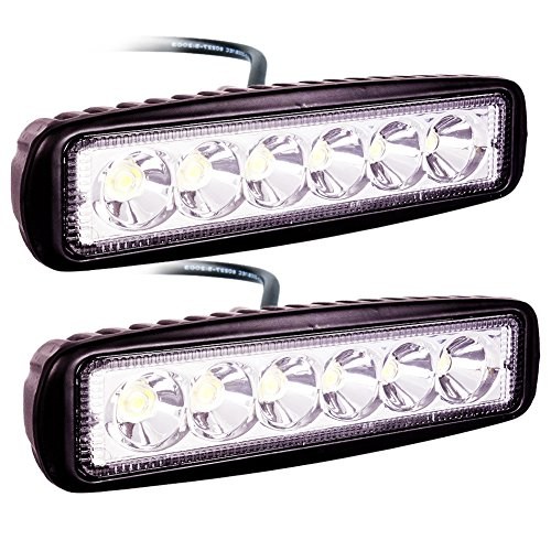 ATNEC LED Light Bar 2x 18W Spot Work Light Strip, Jeep Off-road Light Bar, Driving Fog Lights IP67 Waterproof for Off-road, Truck, Car, ATV, SUV, Jeep (Small Led Trailer Lights compare prices)
