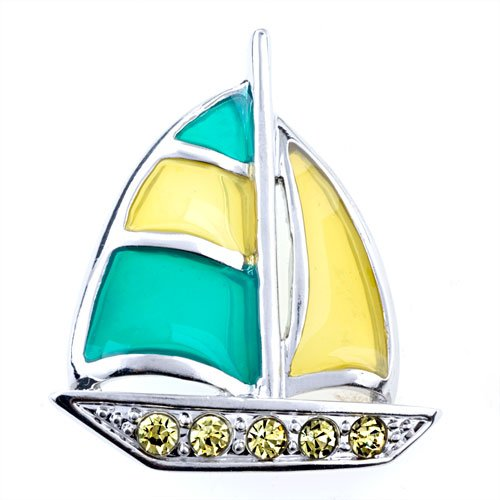 Pugster Silver Sailboat Brooches And Pins