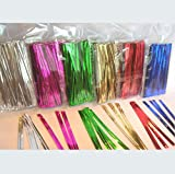 "600pcs 4"" Metallic Twist Ties - 6 colors"