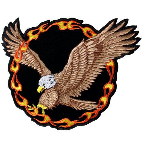Hot Leathers Ring Of Fire Eagle Patch (5