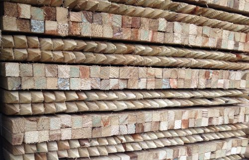 Cheap Price 12m Tree Stakes 50 Pack 32x32mm Square Wooden Timber