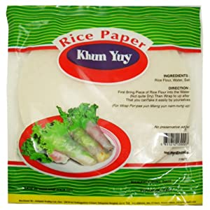 Rice Paper Spring Rolls Circle Shaped Noodle Sheet Net Wt