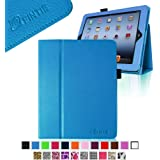 Fintie Folio Case for iPad 4th Generation with Retina Display, the New iPad 3 & iPad 2 Slim Fit Stand Smart Cover with Auto Sleep / Wake Feature - Blue