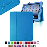 FINTIE (Royal Blue) Folio Leather Case Cover for iPad 4th Generation With Retina Display, the New iPad 3 & iPad 2 (Built-in magnet for sleep / wake feature)-Multi Color Options