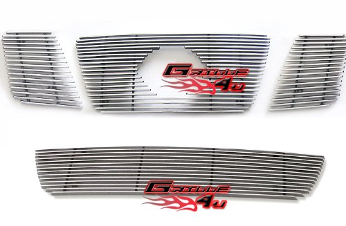 Fits 2008-2013 Nissan Armada Billet Grille Grill Insert With Logo Show Combo # N67779A (2012 Nissan Armada Grille compare prices)