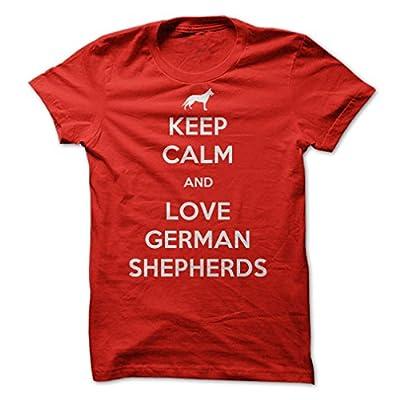 Sun Frog Shirts Women's Keep Calm And Love German Shepherds T-Shirt