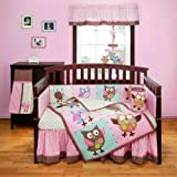 Fresh Calico Owls Piece Baby Crib Bedding Set w Bumper by Bananafish