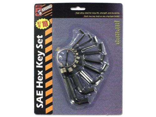10 Piece Sae Hex Key Set - 1