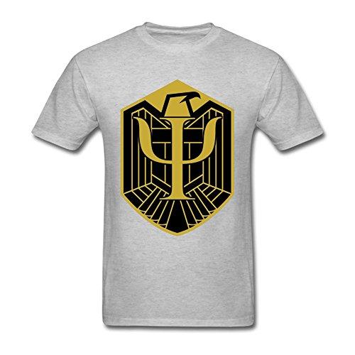 CHENGXINGDA Men's Judge Dredd Psi-Judge Badge T-shirt L ColorName Tee