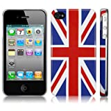 IPHONE 4 / IPHONE 4G UNION JACK GLOSSY BACK COVER CASE / SKIN / SHELL PART OF THE QUBITS ACCESSORIES RANGEby CallCandy