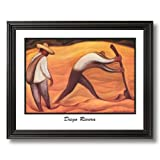 Diego Rivera Peasant Working Contemporary Home Decor Wall Picture Black Framed Art Print
