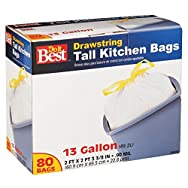 Do it Best Drawstring Tall Kitchen Trash Bag-80CT 13GAL KITCHEN BAG