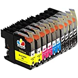 TS 10PK Compatible Ink Cartridges for B - LC103 XL (4 Black, 2 Yellow, 2 Magenta, 2 Cyan) for Multifunction Printers MFC-J4310DW MFC-J4410DW MFC-J4510DW MFC-J4610DW MFC-J4710 MFC-J470DW MFC-J475DW MFC-J870DW MFC-J875DW