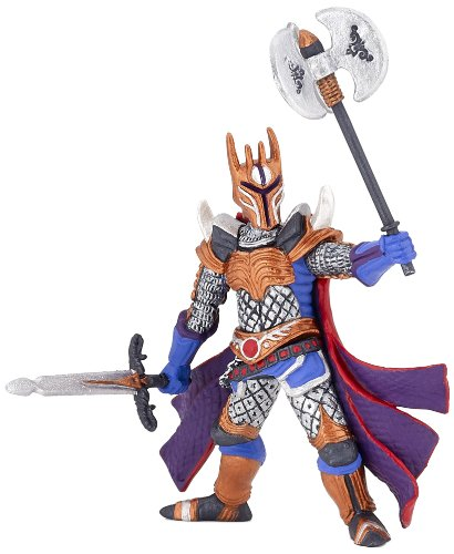 Papo Silver Knight with a Triple Battle Axe Toy Figure - 1