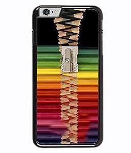 PRINTVISA Pattern With pencil Art Premium Metallic Insert Back Case Cover for Apple Iphone 6 Plus - D5930