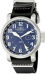 Invicta Men's 18887 Aviator Analog Display Swiss Quartz Black Watch