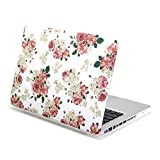 MacBook Pro 13 inch Case, GMYLE Hard Case Print Frosted for MacBook Pro 13 inch – White Floral Rose Pattern Rubber Coated Hard Shell Case Cover case (Not Fit For Macbook Pro 13 with Retina Display A1425 and A1502) Reviews