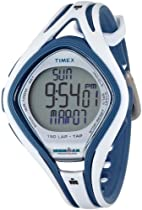 TIMEX IRONMAN SLEEK 150 LAP TAP WHITE/BLUE RESIN WATCH