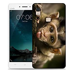 Snoogg Teasing Monkey Designer Protective Back Case Cover For VIVIO V3 MAX