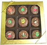 Olde Naples Christmas Gift, Chocolate Covered Oreos, Milk Chocolate, 9-Pieces Gift Box