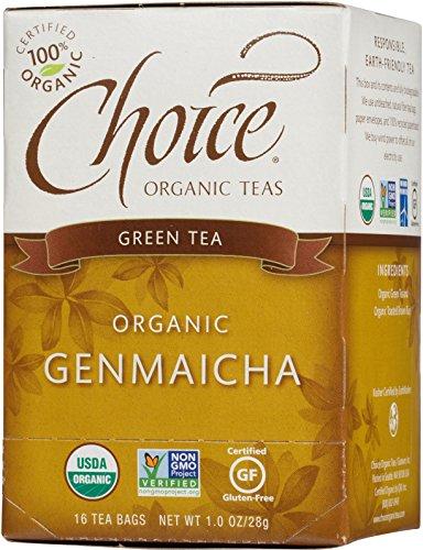 Choice Organic Green Tea W/Toasted Brown Rice (Genmaicha), 16 Count Box