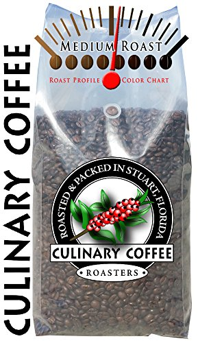 Culinary Coffee Roasters- Costa Rican Tazrrzu, Medium Roasted Whole Bean Coffee, 5-Pound Bag Amazon Special 100% Satisfaction Guaranteed!