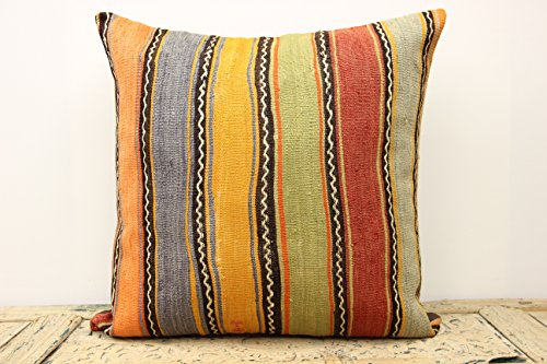 Turkish Kilim Pillow Cover 40x40 Inch 40x40 Cm Floor Kilim Pillow Magnificent 28x28 Pillow Cover