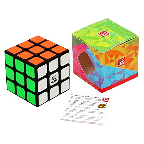 55cube-Anti-pop-Speed-Cube-Quicker-Easier-More-Precisely-Than-Original-Speed-Cube-Super-durable-Vivid-Color-3x3-Puzzle-Cube-3-Layer-Speed-Cube-22-Black-100-Money-Back-Guarantee