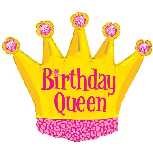 Mayflower Distributing - Birthday Queen Foil Balloon - 1
