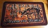 Welcome To Our Woodland Retreat Deer Cabin Lodge Home Decor Kitchen Rug Door Mat