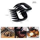 BBQ Grill Tools Set Barbecue Accessories Uvistar with 23 Pieces Include Brush Cleaner Baking Tinfoil Fork Locking Tongs Skewers Spice Shaker Plastic Bear Paws Pulled Pork Shredder Claws