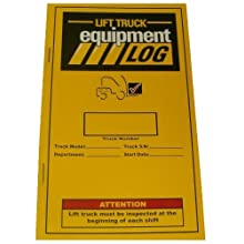 IWI 70-1065 Replacement Lift Truck Log Book for Propane Counterbalance