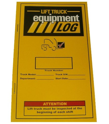 Iwi 70-1065-2 Replacement Lift Truck Log Book For Electric Narrow Aisle
