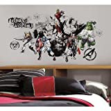 (27x40) Avengers Assemble Black & White Graphic Peel & Stick Wall Decals