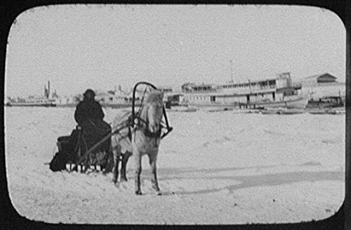 Photo: Blagoveshchensk,Russia,Steamers on River,Horse Drawn Sledge,1895,Steamboats (Horse Drawn Steamer compare prices)