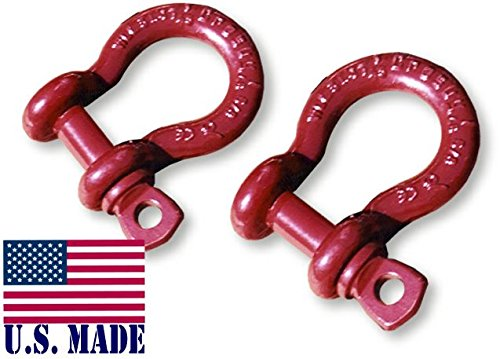 58-inch-UTV-D-SHACKLES-North-American-Made-PAIR-4X4-VEHICLE-RECOVERY