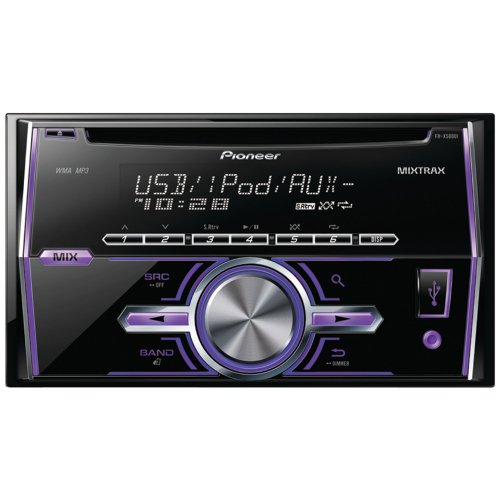 Pioneer Fh-X500Ui Double-Din In-Dash Cd Receiver With Lcd Display, Android(Tm) Media Access, 2 Sets Rcas