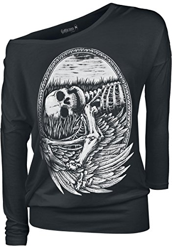 Gothicana by EMP Fallen Angel Manica lunga donna nero XXL