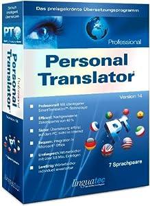 Linguatec Translation Software Personal Translator 14 Professional Multilingual (PC)