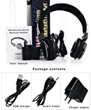 MetroEB Hi-fi Stereo Handsfree Headset 4x Noise Canceling Wireless Bluetooth Headphone Headset Tf Card for Mp3,cell phones Apple Iphone 5 Ipod Ipad note & More A2dp Enabled Smartphones