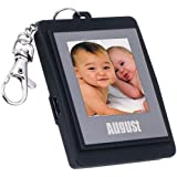 "August DP150 Mini 1.5"" Digital Photo Frame - Keychain Photo Viewer with Built-in Memory for 107 Pictures - Plug & Play - NEW USB CABLE (Black)"