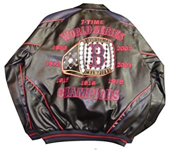 Boston Red Sox 7-Time World Series Championship Pleather Jacket by G-III Sports
