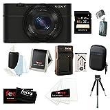 Sony DSC-RX100 20.2 MP Exmor CMOS Sensor Digital Camera with 3.6x Zoom Bundle...