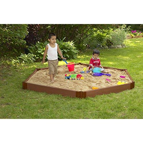 Leverler For Sand Box : Frame it all hexagon sandbox timbers one level