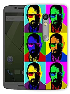 "Heisenberg Retro Art Printed Designer Mobile Back Cover For ""Motorola Moto X Play"" By Humor Gang (3D, Matte Finish, Premium Quality, Protective Snap On Slim Hard Phone Case, Multi Color)"