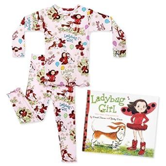Ladybug Girl Long Sleeve Pajamas Set with Book (5)
