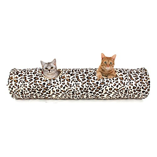 pawz-road-cat-tunnel-leopard-print-crinkly-cat-fun-2-holes-long-tunnel-kitten-toys-126x25cm